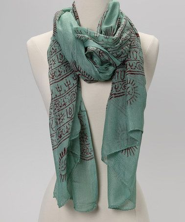 OM Prayer Shawl in GREEN